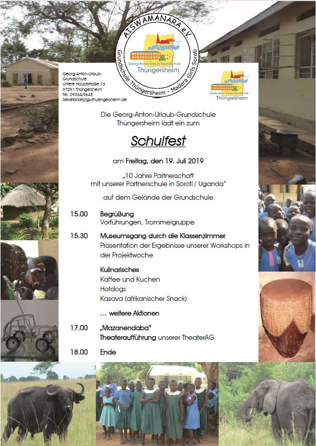 Schulfest am 19. Juli 2019